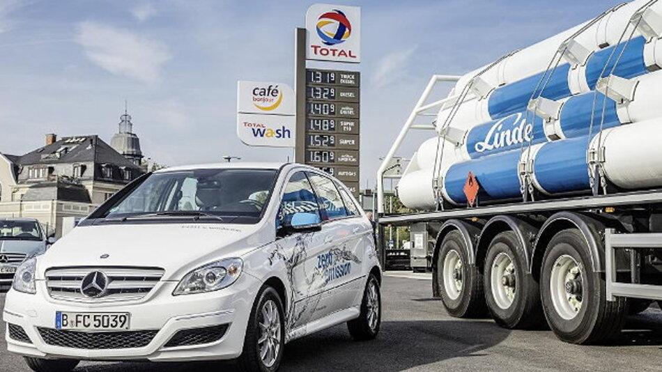Daimler, Linde und Partner errichten neue Wasserstofftankstellen in Deutschland.
