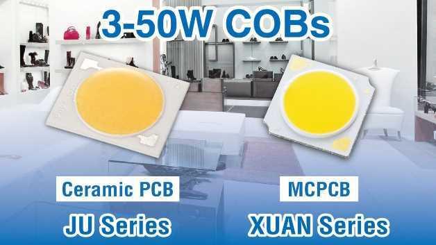 Mit einem Farbwiedergabeindex (CRI) von über 95 adressieren neue LEDs der 'Natural Light'-Klasse vor allem den anspruchsvollen professionellen Beleuchtungsmarkt