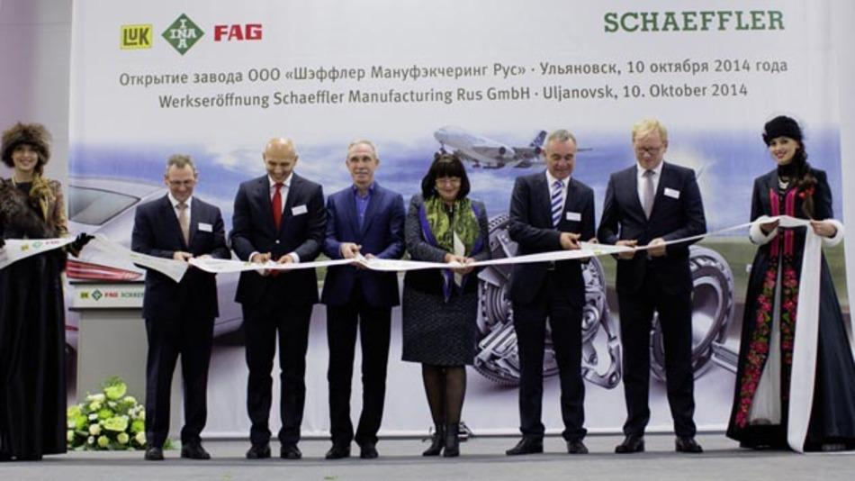 Automobilzulieferer Schaeffler hat in Russland sein erstes Werk eröffnet.