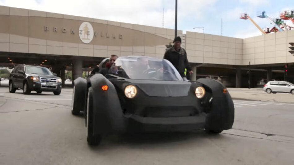 """Der """"Strati"""" hat die Firma local motors auf der Industriemesse IMTS in Chicago vorgestellt."""