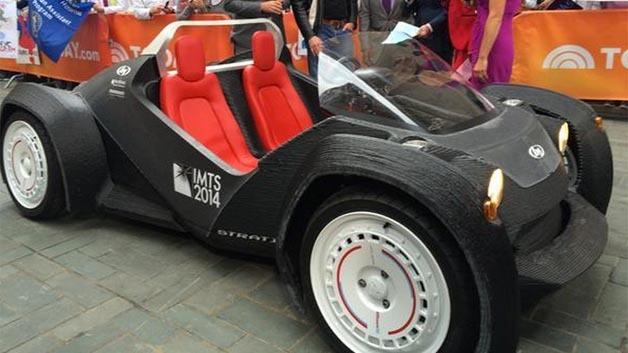Das Elektroauto aus dem 3D-Drucker, der Strati, soll nach Herstellerangaben 2015 auf die Straße kommen.