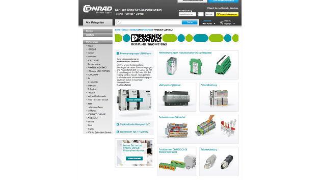 Conrad bietet nun über 18.000 Artikel im Phoenix-Contact-Markenshop