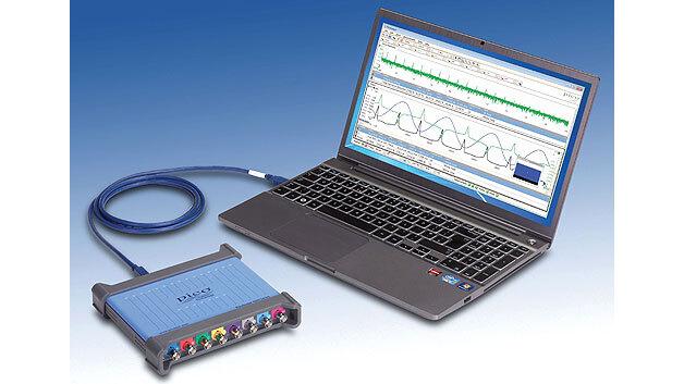Bild 1. Beispiel für ein USB-PC-Oszilloskop: hier ein 8-Kanal-PicoScope 4824 mit PicoScope-6-Software für Windows und Linux.
