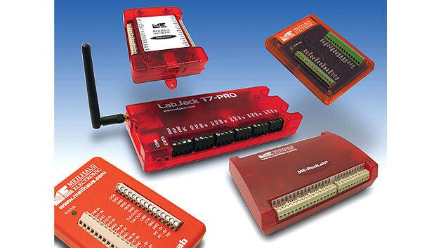 Bild 2. USB-I/O-Boxen oder sogenannte Mini-Messlabore gibt es in verschiedenen Bauformen – Beispiele sind die LabJack- und RedLab-Serien.