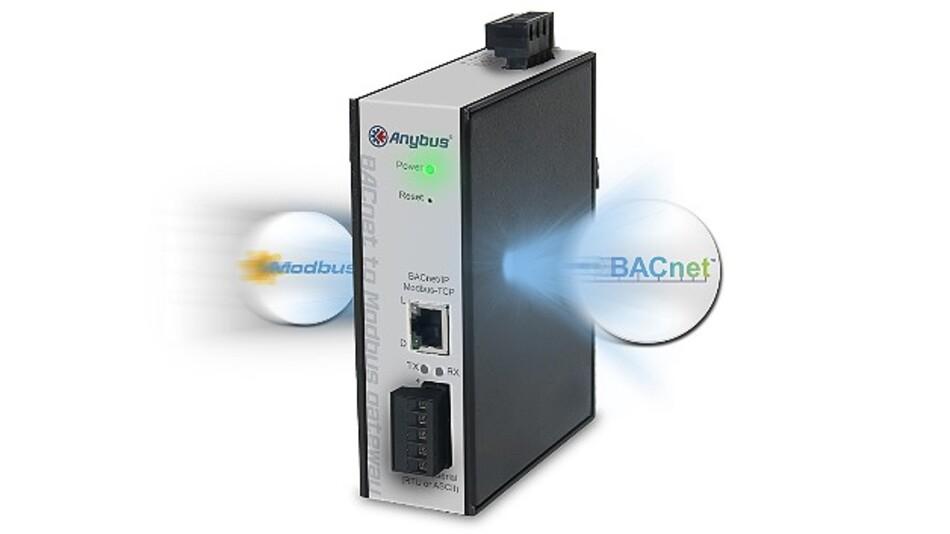 Das »Anybus BACnet/Modbus-Gateway« von HMS Industrial Networks integriert Modbus-Geräte in BACnet-Netzwerke.