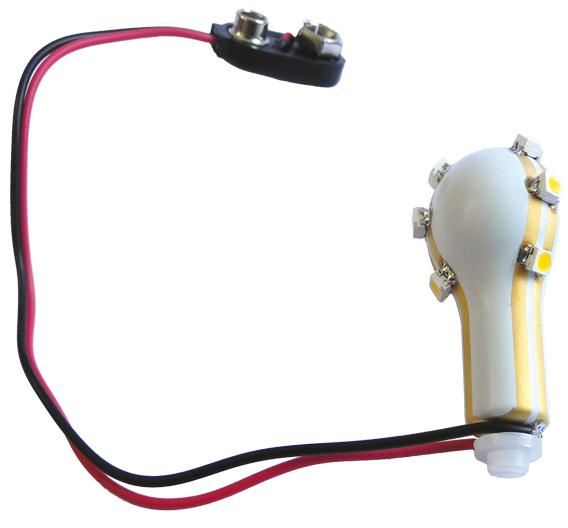 Bild 1: Der LDS-Pulverlack von LPKF eröffnet neue Möglichkeiten in der LED-Technologie