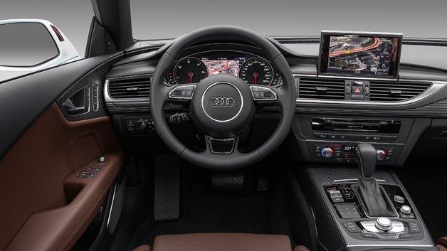 Cockpit des Audi A7 Sportback mit Infotainment-System.