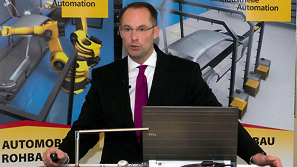 """Geschäftsführer Christian Wolf: """"Die Vorhersagen des Geschäftsverlaufes werden immer schwieriger; 80 Prozent des Umsatzes sind heutzutage konjunkturbedingt."""""""