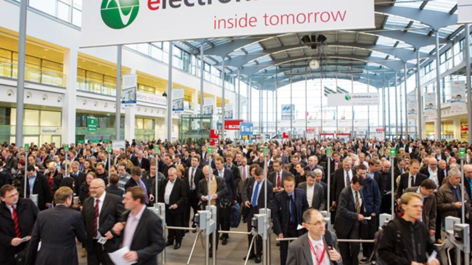 Mehr als 2600 Aussteller aus aller Welt präsentieren in diesem Jahr wieder das gesamte Produkt- und Leistungsspektrum der Elektronik - ein Besuchermagnet, der auch in diesem Jahr wieder über 70.000 Fachbesucher nach München führen dürfte.