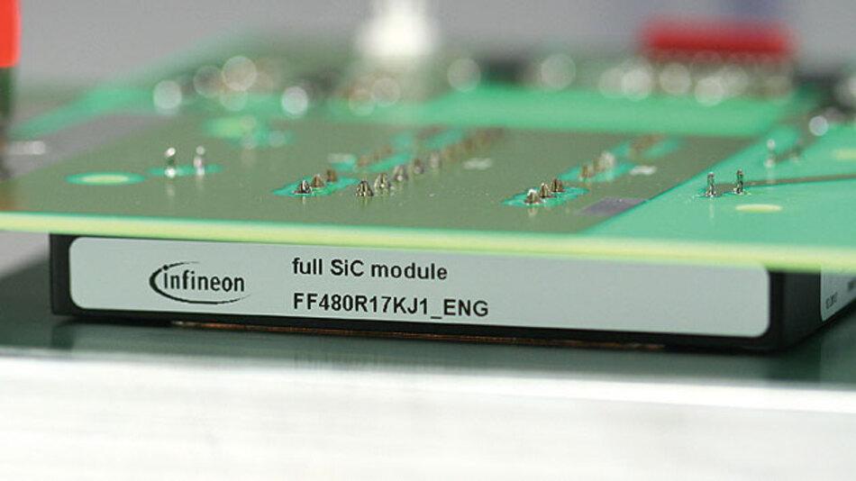 SiC-Bausteine mit niederinduktives Design betreiben, für schnell schaltenden Anwendungen