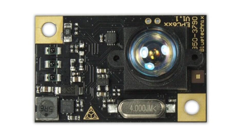 Besonders kompakt ist der ToF-3D-Sensor »TinyToF« aus der Baureihe »Sentis« von Bluetechnix.