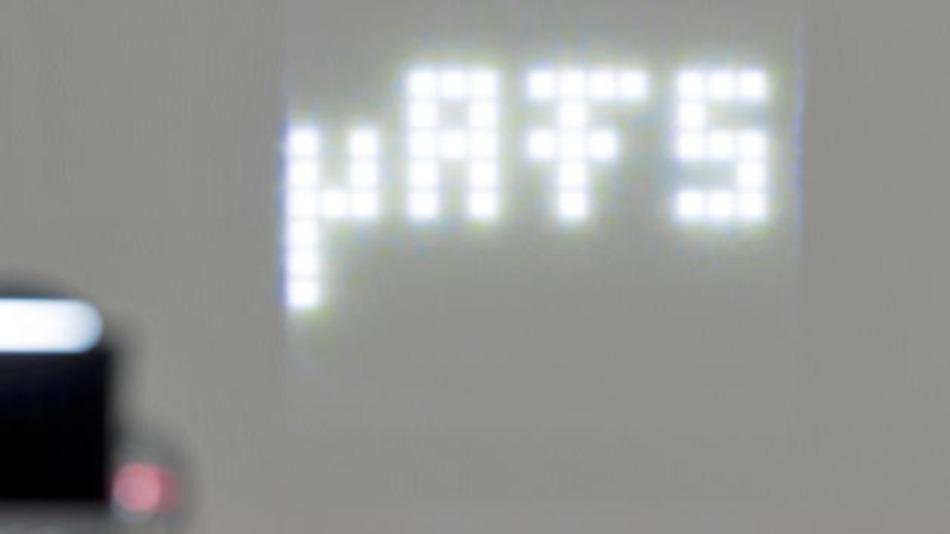 Der µAFS-Demonstrator zeigt, dass nur mit einem LED-Chip 256 Pixel einzeln angesteuert werden können.