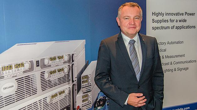 Gustav Erl, General Manager von TDK-Lambda Germany GmbH: »Wir möchten neue Märkte erschließen. Vor allem der Produktbereich mit Leistungen von 100 bis 250 W ist ein wachsender Markt, in den wir investieren wollen.«