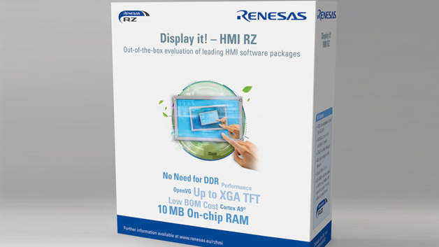 das neue »Display it! – RZ HMI Solution Kit« von Renesas Electronics Europe