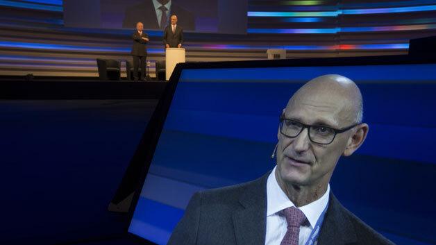 Timotheus Höttges, Vorstandsvorsitzender der Deutschen Telekom auf dem 3. Cybersecurity Summit.