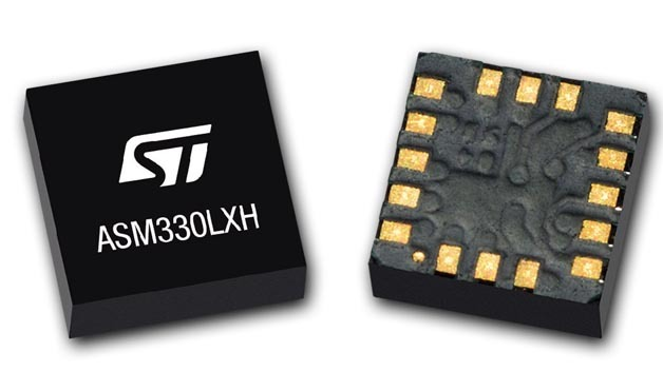 6-Achsen-IMU ASM330LXH von STMicroelectronics.
