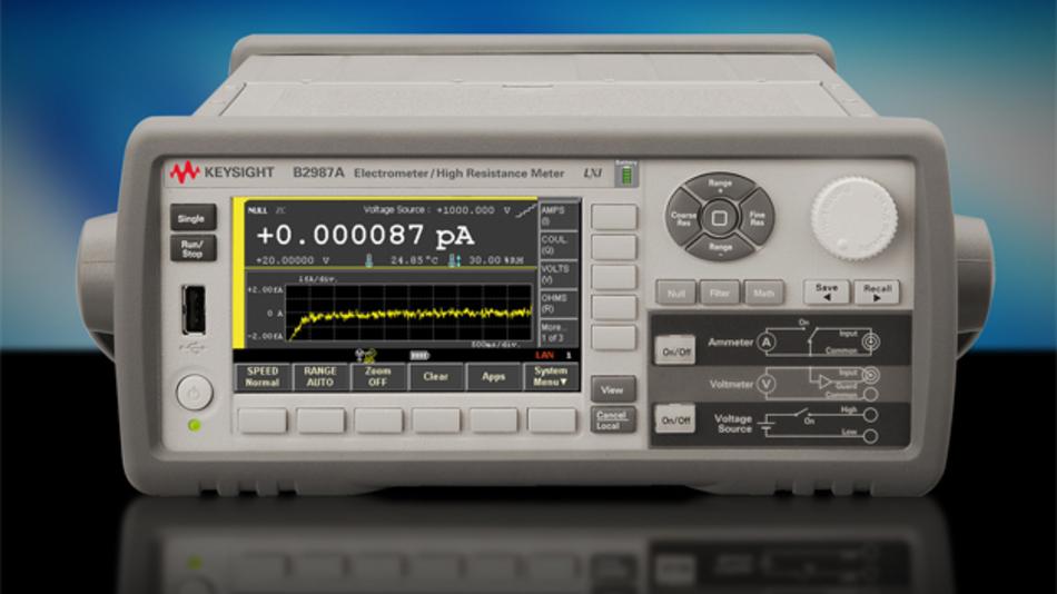 Das erste Elektrometer mit grafischer Benutzeroberfläche: Keysight B2987A