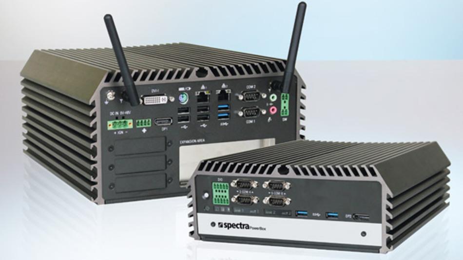 In unterschiedlichen Bauformen sind die Box-PCs der Serie »Spectra PowerBox 3000« erhältlich.