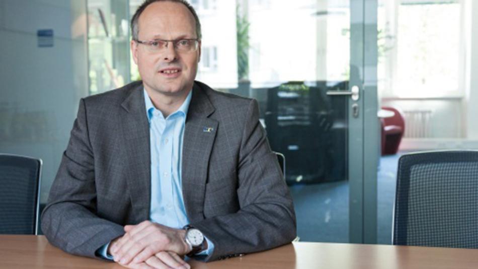 ... Dr. Olaf Munkelt, Vorsitzender vom VDMA Industrielle Bildverarbeitung, anlässlich der Vision in Stuttgart. Der im Moment dynamischste Wachstumsmarkt ...