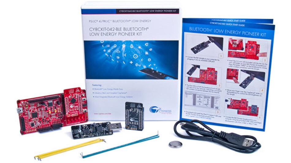 Mit diversen Entwickler-Kits will Cypress den Einstieg in »PSoC 4 BLE« und »PRoC BLE« deutlich vereinfachen.