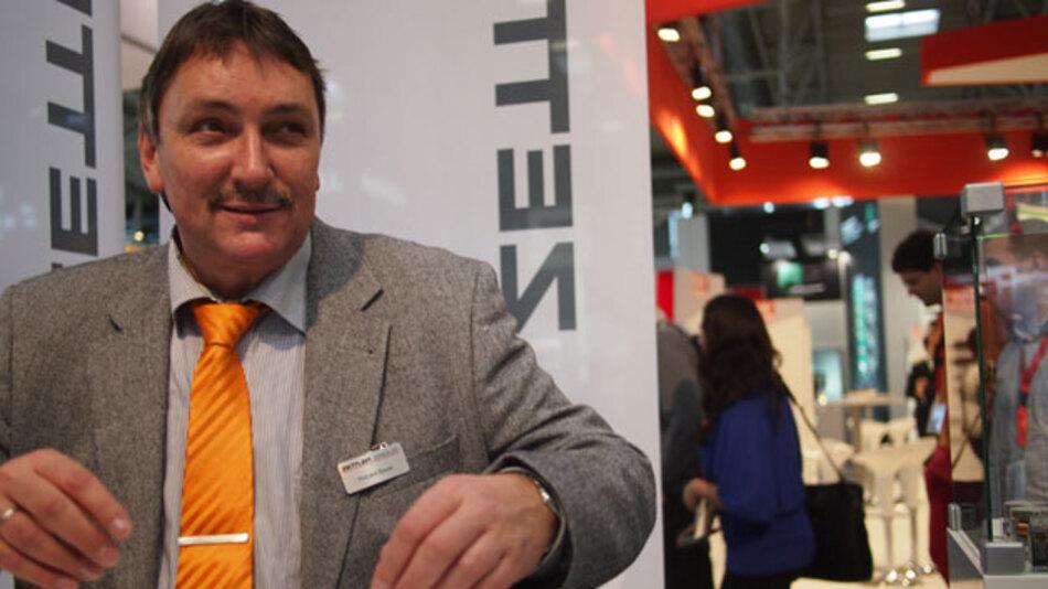Richard Bayer, Geschäftsführer von Zettler electronics, auf der electronica 2014.