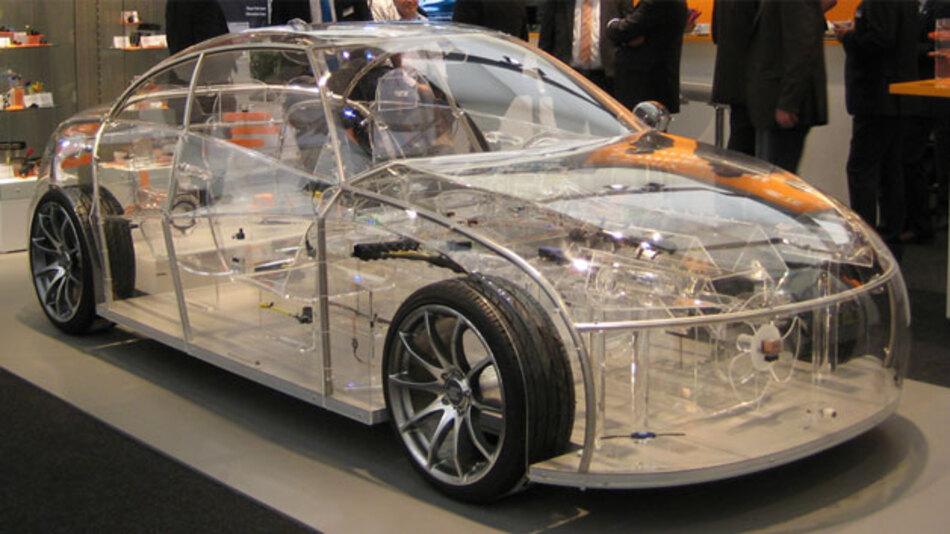 Transparentes Fahrzeug von TE Connectivity