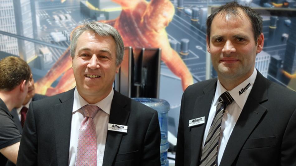 Bild: Robert Huxel, Technical Marketing Manager EMEA (links) und Olaf Herbst, Regional Manager Marketing EMEA bei Altium.
