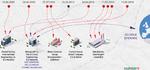 Infografik zu den ersten Stuxnetopfern