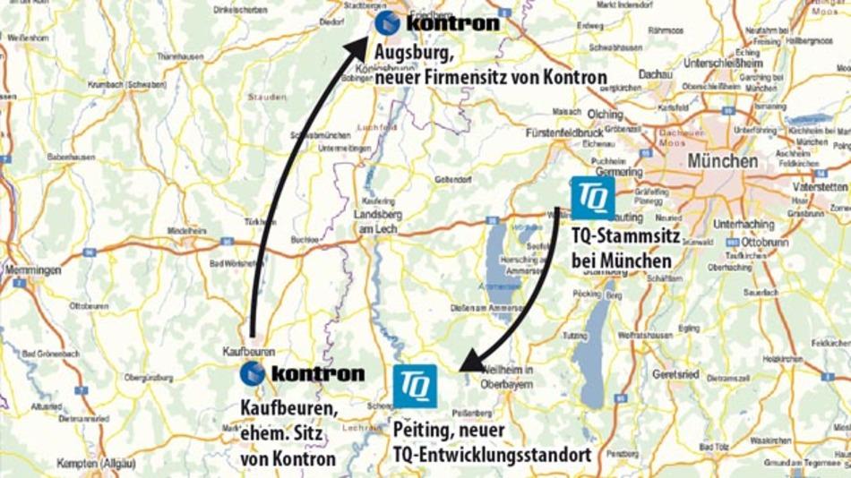 Kontron hat seinen Firmensitz nach Augsburg verlegt und den Standort Kaufbeuren aufgegeben. Daraufhin hat TQ in seinem Gebäude im Technologiepark Peiting Entwickler eingestellt.
