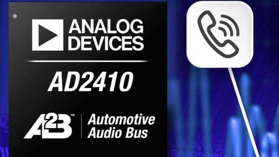 Der Audio-Transceiver AD2410 unterstützt den neuen Automotive Audio Bus.
