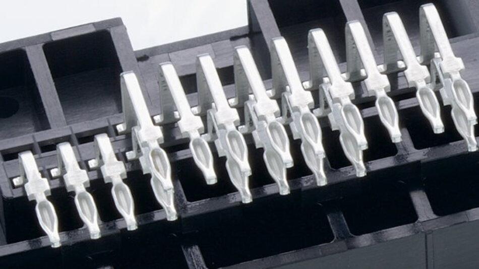 Anschlussleiste in Einpresstechnik
