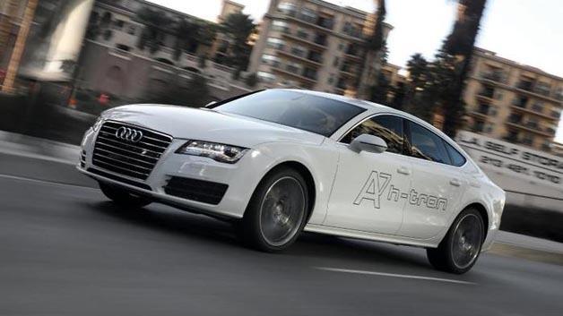 Nach Toyota setzt auch Audi auf Brennstoffzellentechnologie: Die Konzeptstudie Audi A7 h-tron quattro.