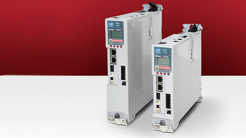 Bild 1. Integrierte Achssteuerungs-Lösung mit Ethernet/IP-Anbindung: Der Allen-Bradley Kinetix 5500-Servoantrieb.