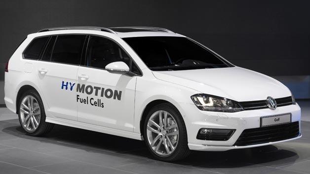 Volkswagen zeigt mit dem Golf Variant HyMotion eine Konzeptstudion mit Brennstoffzellenantrieb. Eine spätere Serienfertigung ist nicht ausgeschlossen.