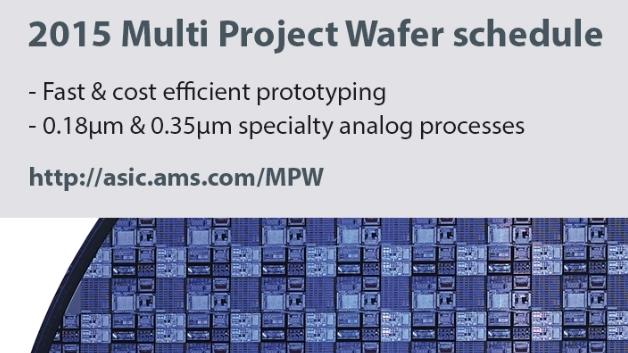 Beinahe 150 Starttermine für Multi-Project-Wafer bietet ams im Jahr 2015 an.