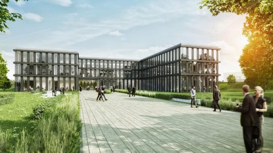 So soll die neue Vertriebs- und Marketing-Zentrale von Turck in Mülheim einmal aussehen.