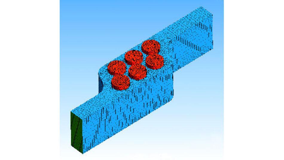 Darstellung der Simulation eines luftgekühlten zylindrischen Zellmoduls