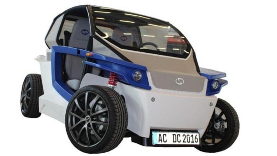 Der fertige Prototyp des Elektroautos StreetScooter C16.