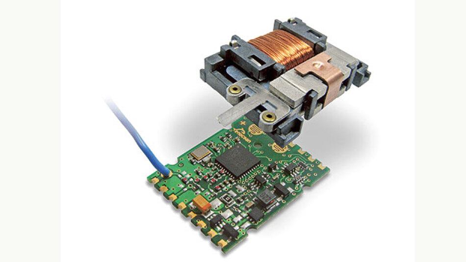 Bild 1. Die Kombination aus mechanischem Energiewandler und einem energiesparsamen Funkmodul ermöglicht batterielose Schalter für die Lichtsteuerung. Der Nutzer kann dabei mit der Energie des Tastendrucks das Licht steuern, dimmen oder programmierte Szenen aktivieren