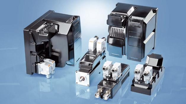 Die Servoantriebe der Serie »IndraDrive Mi« von Bosch Rexroth bieten offene Kommunikationsstandards, vordefinierte Technologiepakete und freie Programmierung in Hochsprachen.