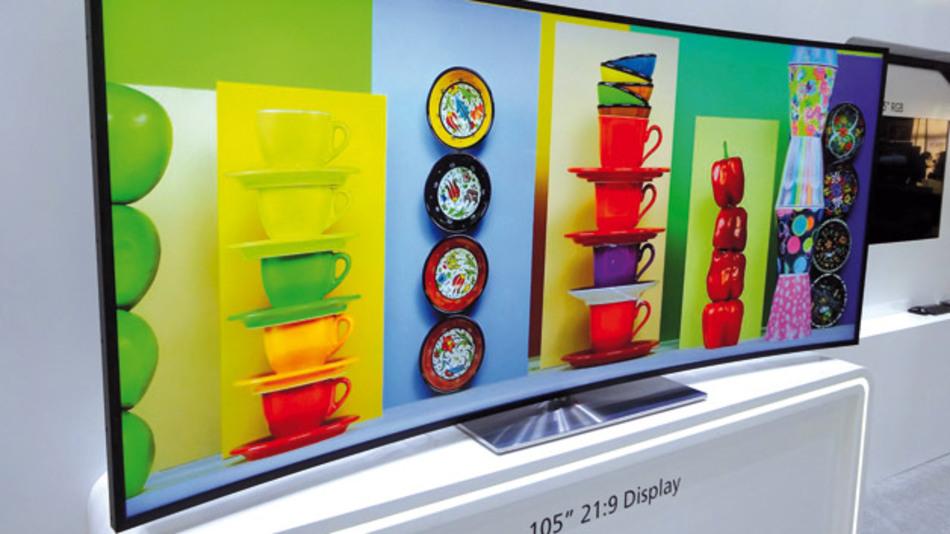 San Diego im Juni 2014: Auf der SDI Displayweek hat LG sein Curved Display im Seitenverhältnis von 21:9 mit einer Diagonalen von 105 Zoll präsentiert.