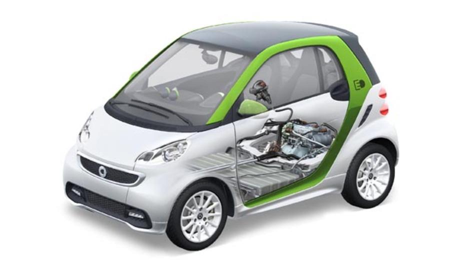 Der smart fortwo electric drive: Elektronischer Antriebsstrang inklusive Batterie der Lithium-Ionen Batterie der Deutschen ACCUmotive.