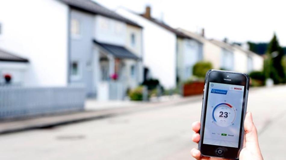 Smart Home: Heizungssteuerung mit der Smartphone-App.