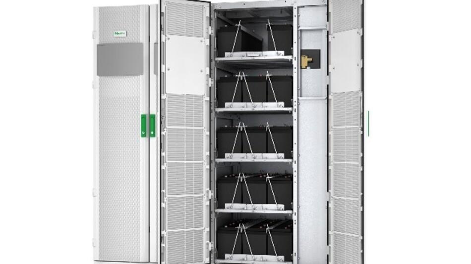 Schneiders 3-phasige USV Galaxy VM erreicht einen hohen Wirkungsgrad von bis zu 99 %.