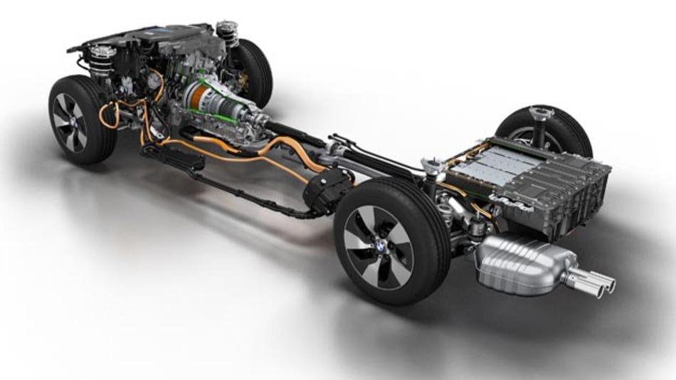 BMW 3er Plug-in Hybrid Prototyp: Antriebsstrang