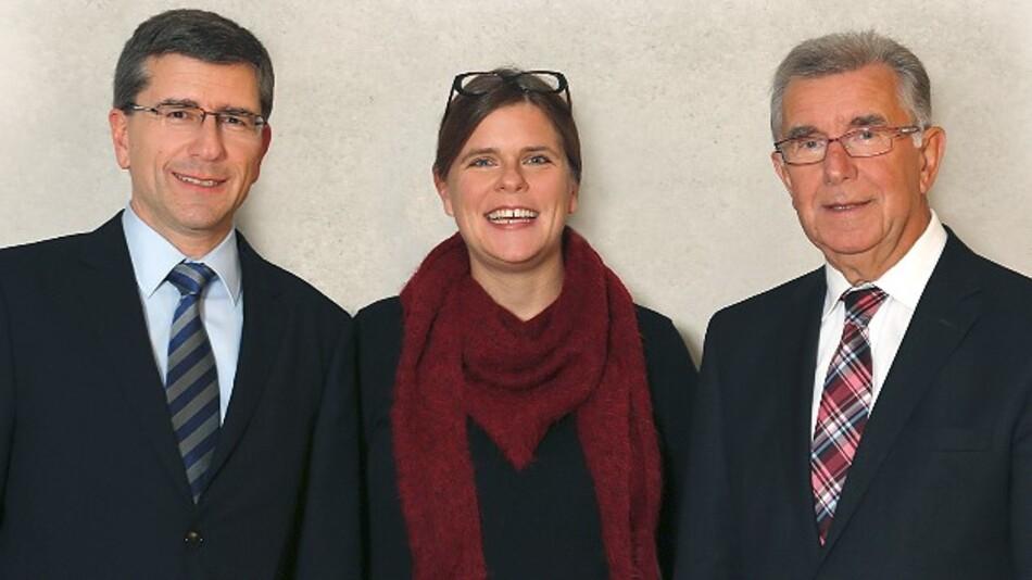Von links: Markus Schyboll, Caroline Hafner-Pinnel und Franz Hafner