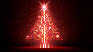 Elektronischer Weihnachtsbaum
