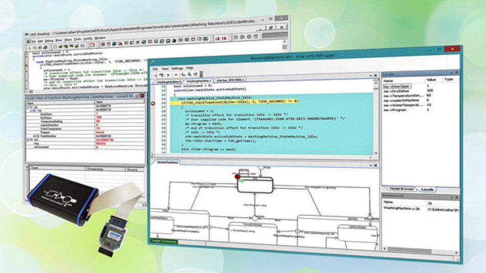 Vom UML-Entwurfswerkzeug direkt auf die Zielhardware: PLS und LieberLieber Software machen's möglich.