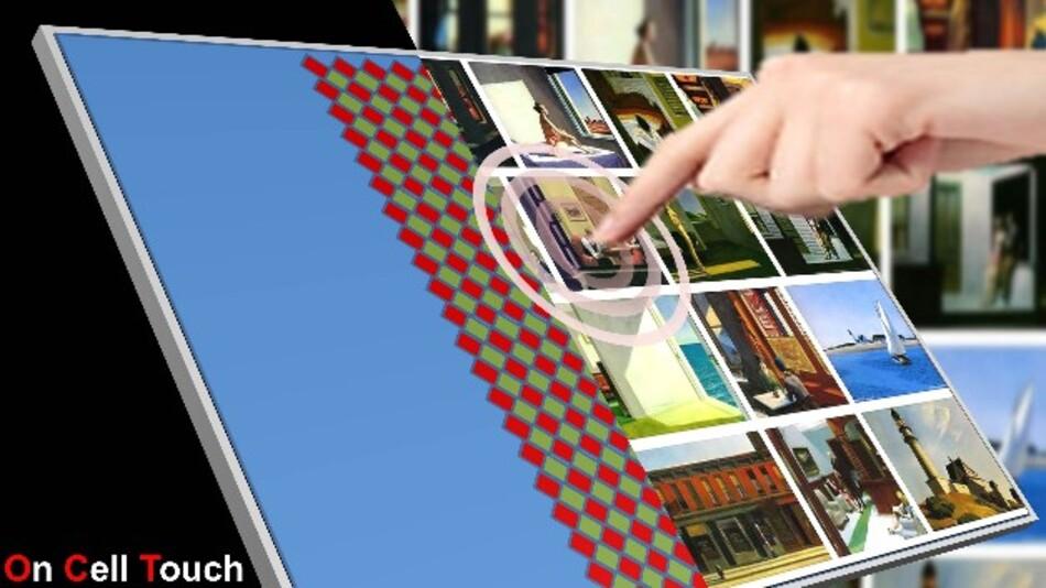 Bei Kyoceras 7-Zoll-Display-Modulen im Widescreen-Format ist ein kapazitiver Touchsensor auf dem Display-Frontglas integriert.