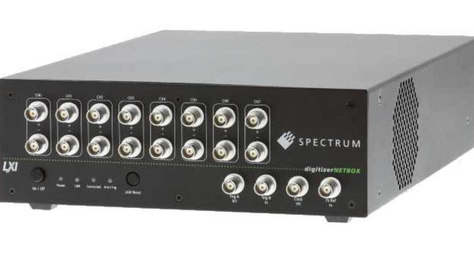 Eine von 59 digitizerNETBOX-Konfigurationen: DN2.465-08 mit acht Kanälen, 3 MSample/s und 16-Bit-Digitizer mit Single-Ended- und True-Differential-Eingängen
